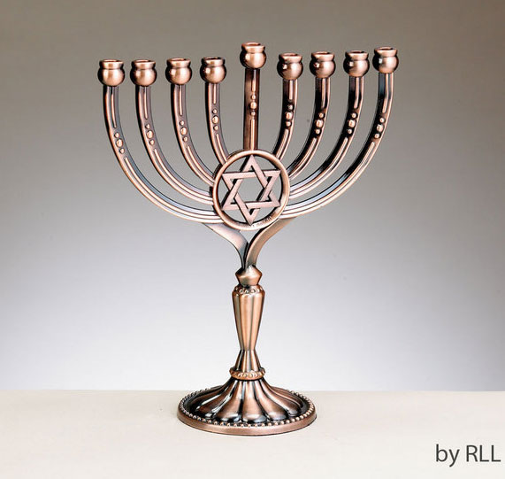 Brass-Copper Menorahs