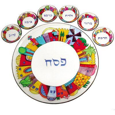 Glass Seder Plates