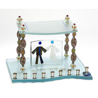 Glass Menorahs