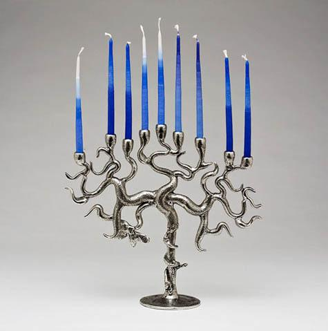 Designer and Artistic Menorahs