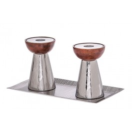 Stainless Steel Candle Holders With Tray