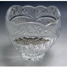 Crystal  & Sterling Candy Dish 05