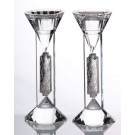 Crystal & Sterling Candlesticks 75L