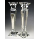 Crystal & Sterling Candlesticks Mirror Design