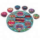 Oriental Seder Plate and Six Small Bowls
