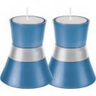 Anodize Aluminum Shabbat Candlesticks - Small - Blue