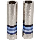 Emanuel Cylinder Shaped Hammered Candlesticks- Blues