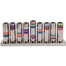 Emanuel Hammered Chanukah Menorah Multicolor Rings