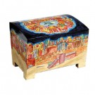 Wooden Esrog Box Jerusalem Design