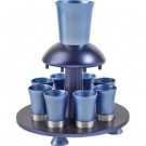 Anodize Aluminum Kiddush Fountain Blue