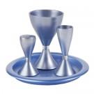 Anodize Aluminum Havdallah Set - Blue