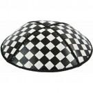 Checkerboard Embossed Kippot