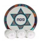 Ceramic Seder Plate 22