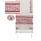 Tallit Embroidered the Matriarchs Red