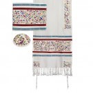 Tallit Embroidered the Matriarchs Multicolor