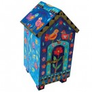 Birds Tzedakah Box - House