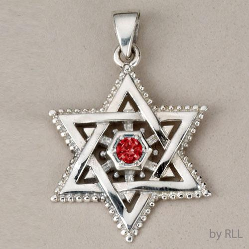 Silver Star of David Pendants