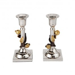 Emanuel Candlesticks with Pomegranate Branch