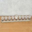 Elegant Crystal Oil Menorah