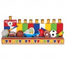 Sports Menorah by Jessica Sporn