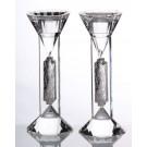 Crystal & Sterling Candlesticks 75L