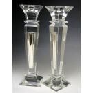 Crystal & Sterling Candlesticks Mirror Design