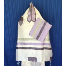 White Raw Silk Tallit