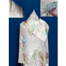 Chiffon Tallit with Pastel Colors Butterflies