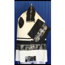 Kotel Tallit Black And Silver