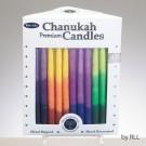 Chanukah Candles - Tri-Color