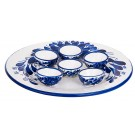 Ceramic Blue and White Seder plate