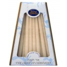Deluxe Safed Chanukkah Candles White on White
