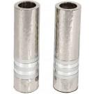 Emanuel Cylinder Shaped Hammered Candlesticks- Silver