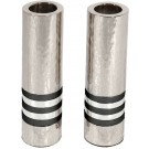 Emanuel Cylinder Shaped Hammered Candlesticks- Black Rings