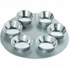 Anodizes Aluminium Passover Seder Plate Silver