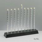 """Led Electric Menorah """"Diamond Cut Aluminium Tubes"""""""
