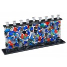 Fused Glass Menorah 40