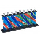 Fused Glass Menorah 41