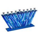 Fused Glass Menorah 44