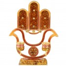 Hamsa Candle Holder Red and Gold