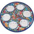 Passover Seder Plate - Laser Cut Hand Painting - Birdes