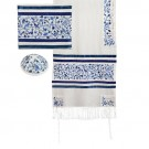 Tallit Embroidered the Matriarchs blue