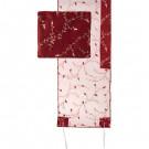 Tallit Organza - Full Embroidery - Maroon